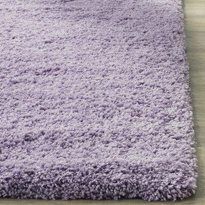 Ariel Lilac Shag Area Rug Rug Size: Rectangle 53 x 76