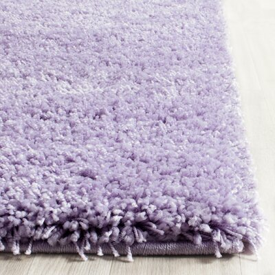 Ariel Lilac Shag Area Rug Rug Size: Rectangle 8 x 10