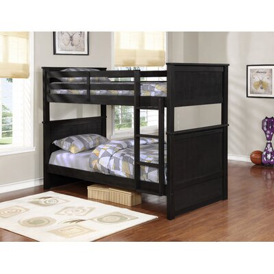 Leann Twin over Twin Bunk Bed Color: Gray
