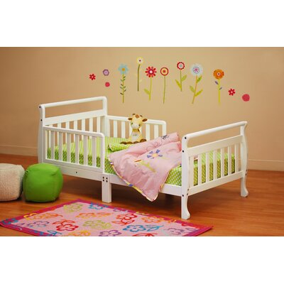 Alessandra Toddler Sleigh Bed Color: White
