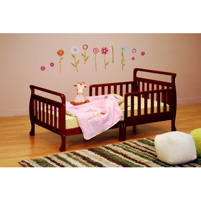 Alessandra Toddler Sleigh Bed Color: Cherry