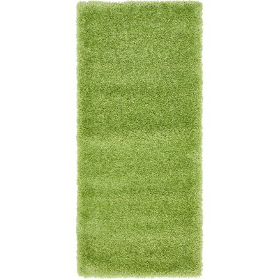 Evelyn Cedar Green Area Rug Rug Size: Runner 27 x 65