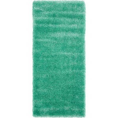 Evelyn Feldspar Green Area Rug Rug Size: Runner 27 x 65