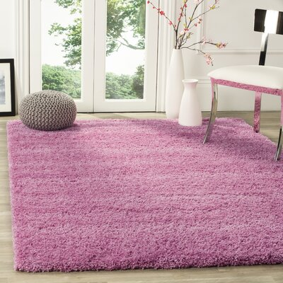 Ariel Pink Area Rug Rug Size: Rectangle 53 x 76