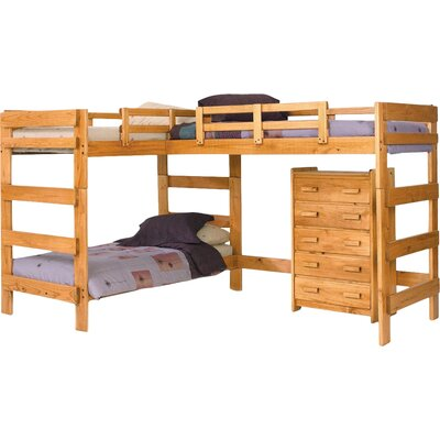 Deondre L-Shaped Bunk Bed