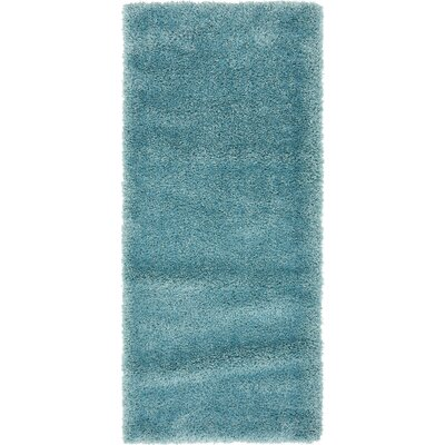 Evelyn Light Blue Area Rug Rug Size: Runner 27 x 65