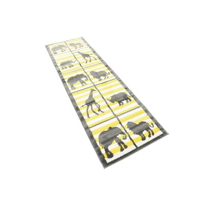 Nicholas Gray Area Rug Rug Size: Runner 2 x 67