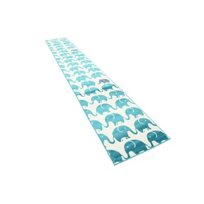 Nicholas Turquoise Area Rug Rug Size: Runner 2 x 13