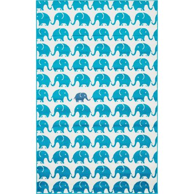 Nicholas Turquoise Area Rug Rug Size: Rectangle 8 x 10