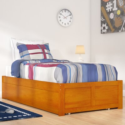 Greyson Platform Bed with Trundle Color: Caramel Latte, Size: Full