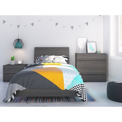 Mullet Platform Bed Size: Twin, Color: Ebony