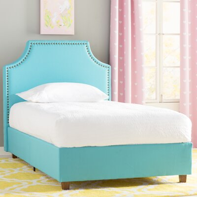 Addie Twin Upholstered Platform Bed Color: Teal