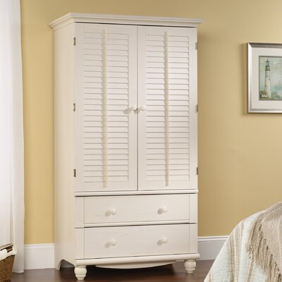 Truman TV-Armoire Finish: Distressed Antiqued White