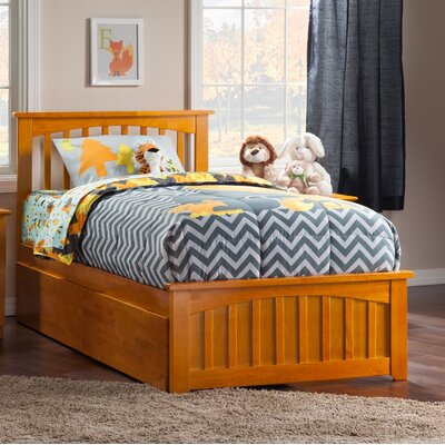 Rhonda Storage Platform Bed Size: Twin, Color: Caramel Latte