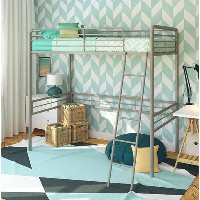 Kent Twin Loft Slat Bed Bed Frame Color: Silver