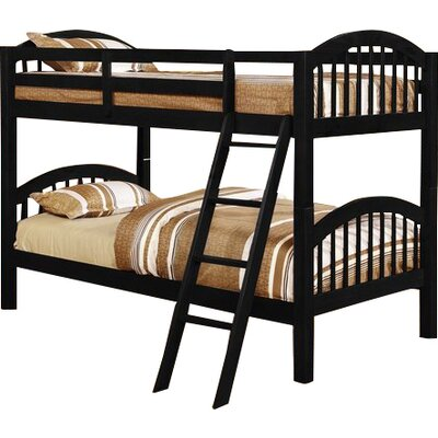 Cassidy Arched Twin over Twin Bunk Bed Color: Black