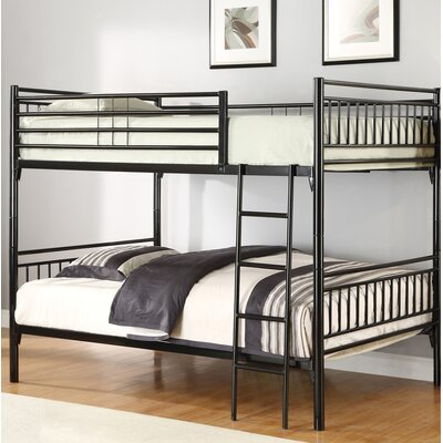 Shayne Full Over Full Bunk Bed Color: Black