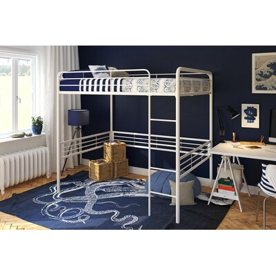 Maximillian Full Loft Bed Bed Frame Color: White