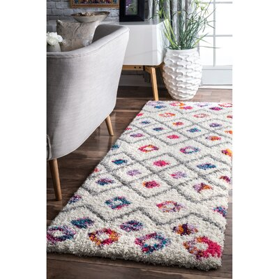 Gwendolyn Pink Area Rug Rug Size: Runner 28 x 8