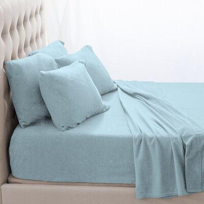Karlie Cozy Micro Fleece Sheet Set Size: Queen, Color: Light Blue