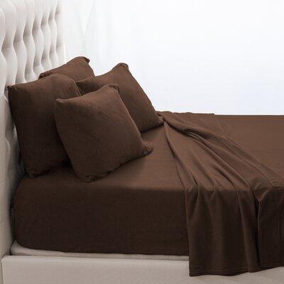 Karlie Cozy Micro Fleece Sheet Set Size: Twin XL, Color: Cocoa