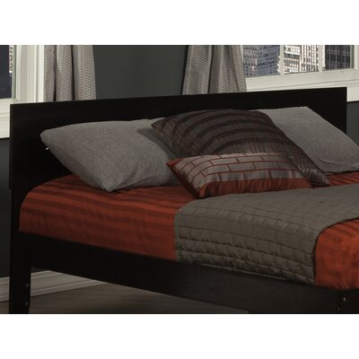 Mathias Panel Headboard Size: Full, Color: Espresso