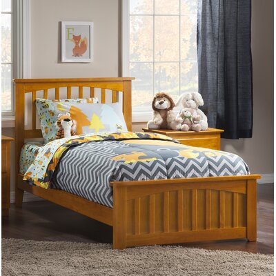 Rhonda Panel Bed Size: Twin XL, Color: Caramel Latte