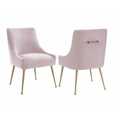 De�bora Side Chair Upholstery: Blush