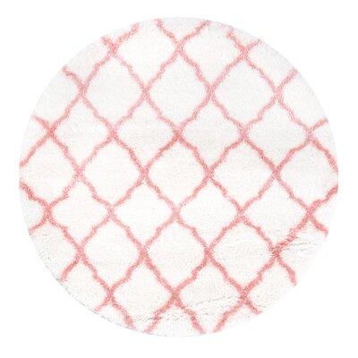 Kellie Baby Pink Indoor Area Rug Rug Size: Round 53