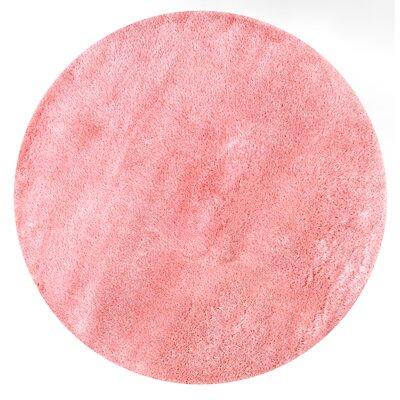 Julio Baby Pink Area Rug Rug Size: Round 53