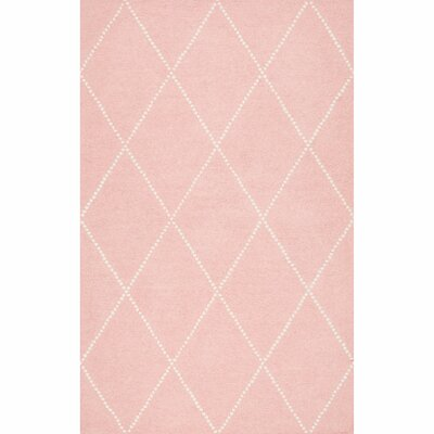 Nat Diamond Hand-Tufted Baby Pink Area Rug Rug Size: Round 6