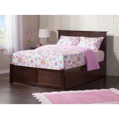 Deandre Storage Platform Bed Color: Antique Walnut, Size: Queen