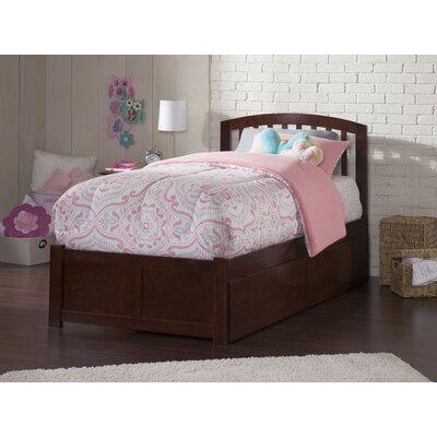 Wrington Storage Platform Bed Color: Antique Walnut, Size: Twin
