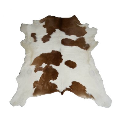 Dallas Designer Cowhides Brown and White Calf Skin Area Rug