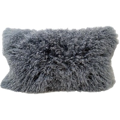 Tibetan Wool Lumbar Pillow Color: Gray