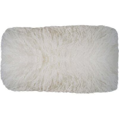 Fleming Tibetan Wool Lumbar Pillow Color: White