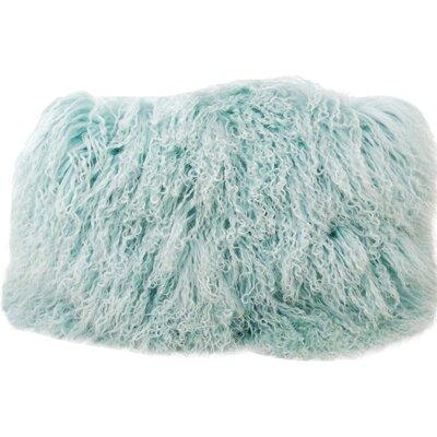 Tibetan Wool Lumbar Pillow Color: Light Teal