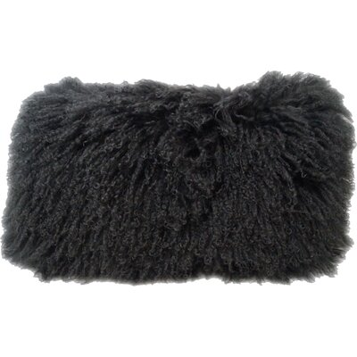 Fleming Tibetan Wool Lumbar Pillow Color: Charcoal