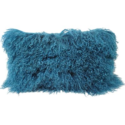 Halifax Tibetan Wool Lumbar Pillow Color: Dark Teal