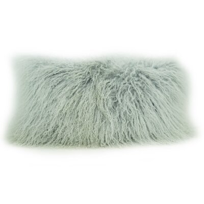 Fleming Tibetan Wool Lumbar Pillow Color: Ash Gray