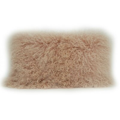 Fleming Tibetan Wool Lumbar Pillow Color: Blush