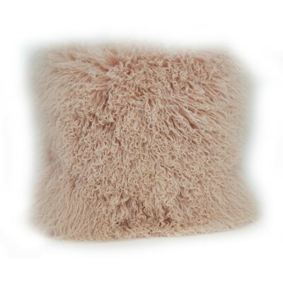 Janelle Tibetan Wool Throw Pillow Color: Blush