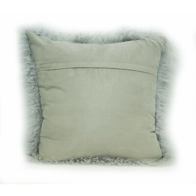 Tibetan Lamb Fur Throw Pillow Color: Ash Gray, Size: 20 x 20 x 6