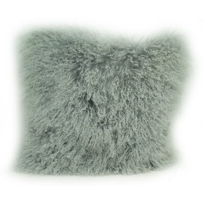 Tibetan Wool Throw Pillow Color: Ash Gray