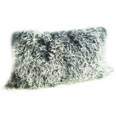 Fleming Tibetan Wool Lumbar Pillow Color: Gray Tipped