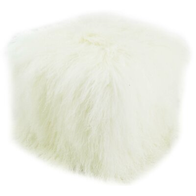 Pouf Upholstery: White