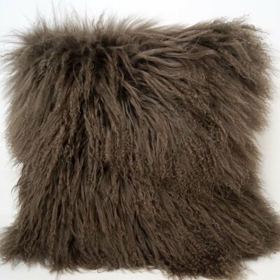 Janelle Tibetan Wool Throw Pillow Color: Pewter
