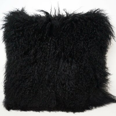 Janelle Tibetan Wool Throw Pillow Color: Black