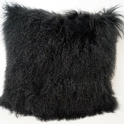 Janelle Tibetan Wool Throw Pillow Color: Charcoal