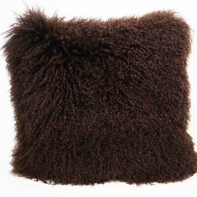 Tibetan Wool Throw Pillow Color: Chocolate